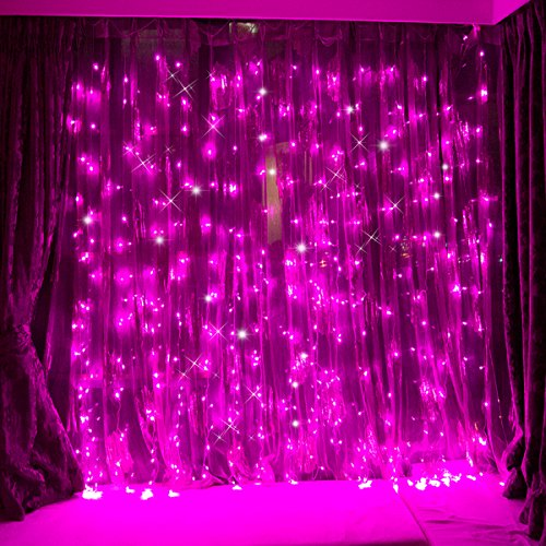 FefeLightup 304 LED String Lights, 9.8-Feet (3 Meters), Pink (Pink String Lights)