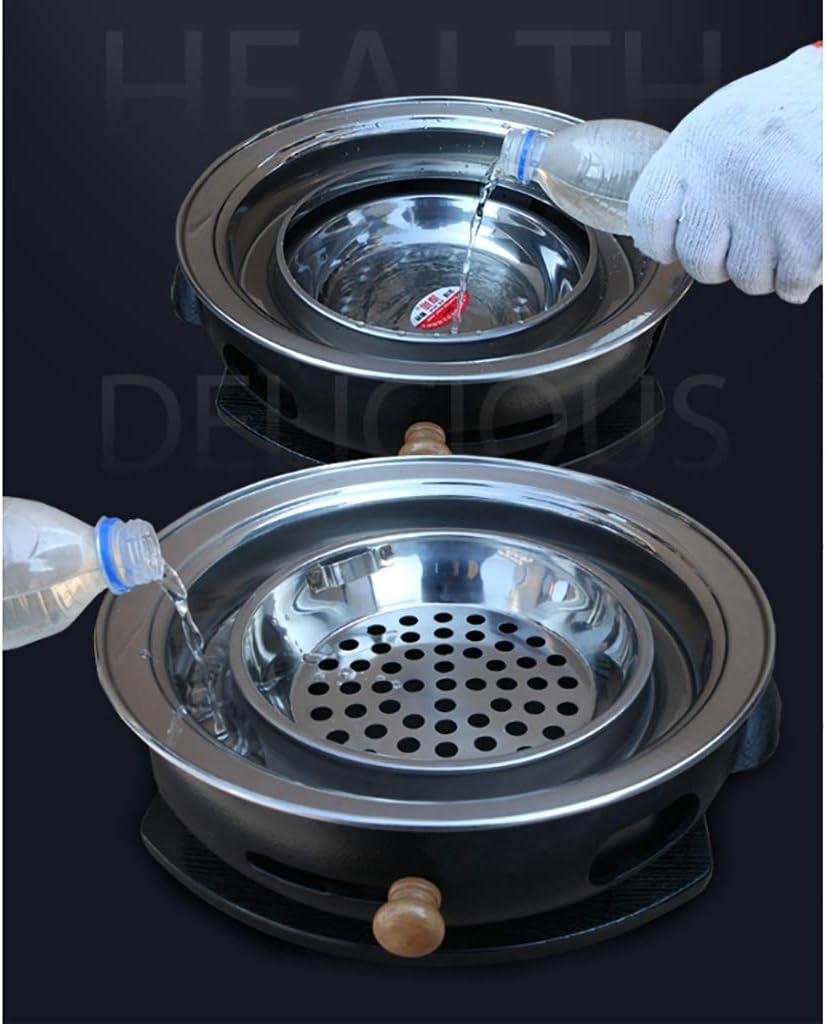 Guoguocy Grills électriques Barbecue, Charbon Maison sans fumée Grill, Grand Barbecue en Fonte Poêle Viande, Intérieur Extérieur, 12 Styles, 34cm (Color : F) H