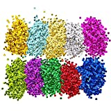 Shappy Loose Sequins Bulk Cup Sequin Iridescent Spangles for DIY Arts Crafts Making, 6 mm, 100 Gram (10 Colors)