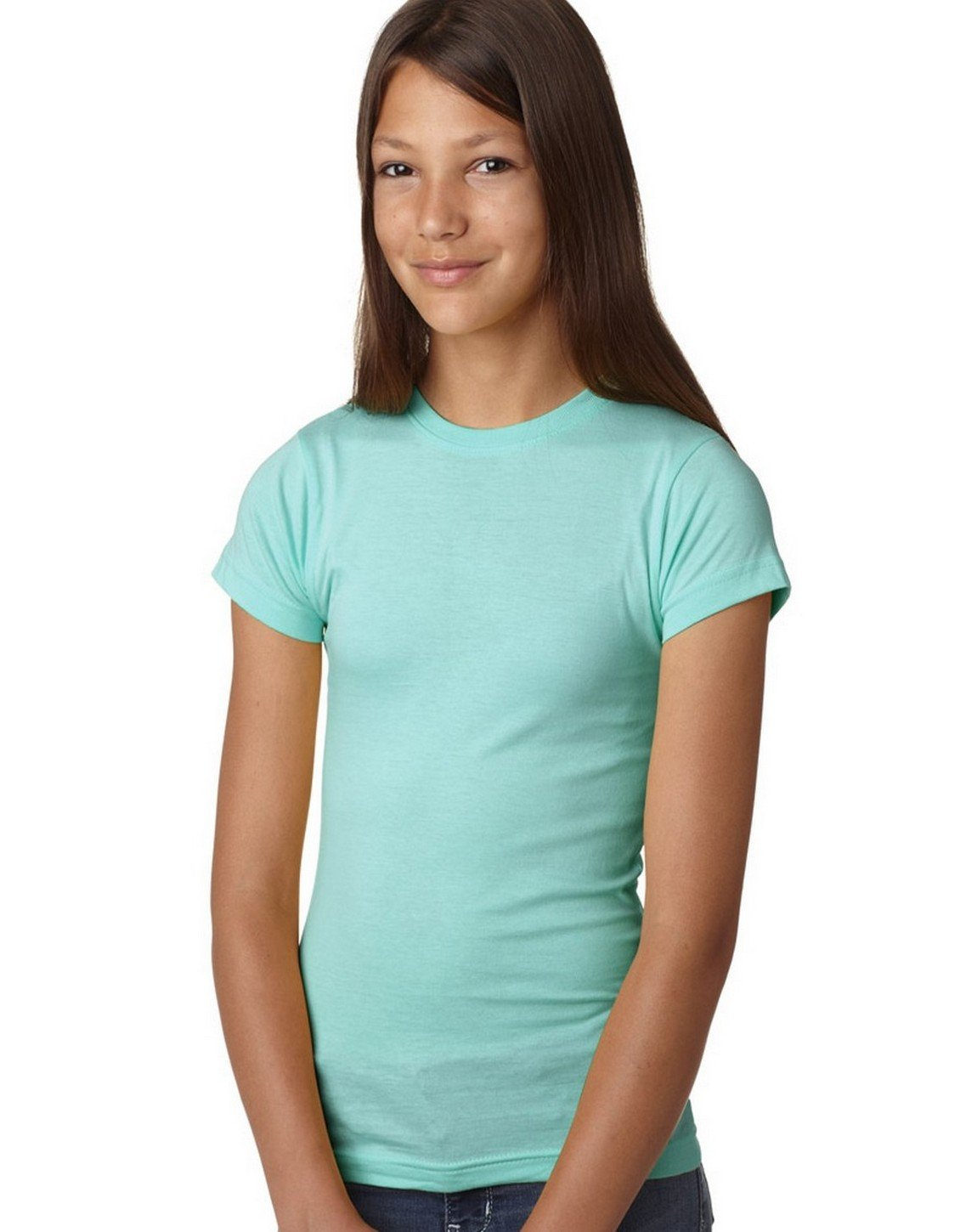 LAT Girls' Fine Jersey T-Shirt, CHILL, X-Small