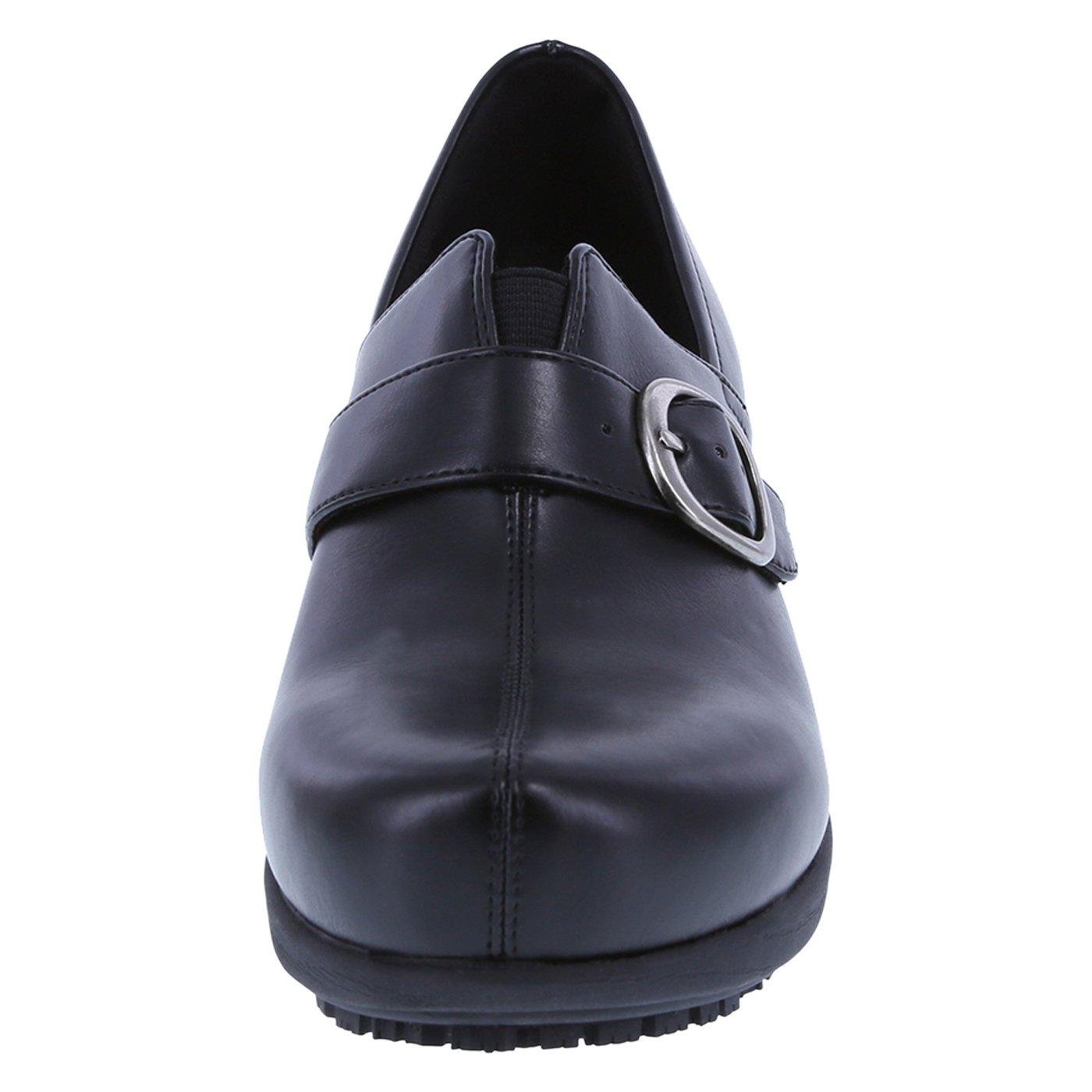 safeTstep Slip Resistant Women's Black Women's Buckle Gretchen Clog 8.5 Regular by safeTstep (Image #4)