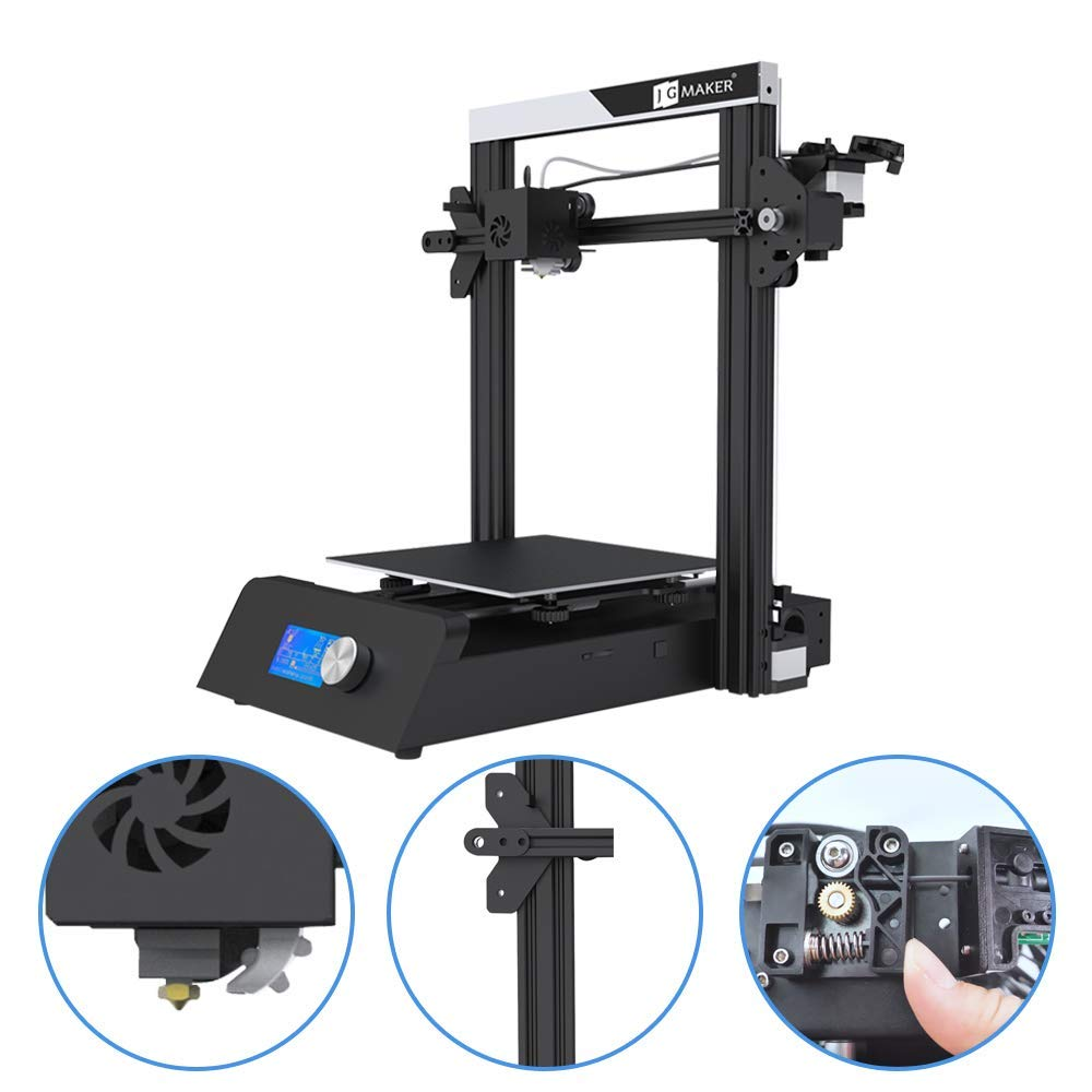 JGMAKER Magic 3D Printer with Automatic Memory,Aluminum DIY Kit Resume Print Work with PLA Filament Printing Size 220x220x250mm