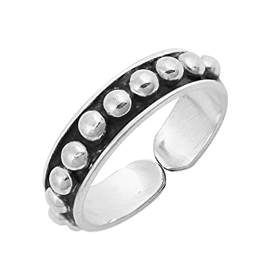4 Mm Sterling Silver 925 Usa Seller Jewelry & Watches Bali Design Toe Ring Face Height