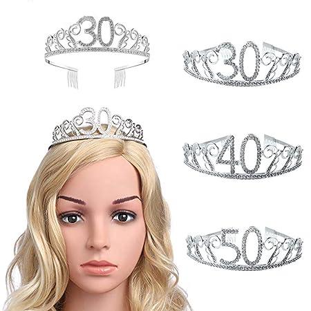 good01 30/40/50 años Tiara, Espeluznante Strass número ...