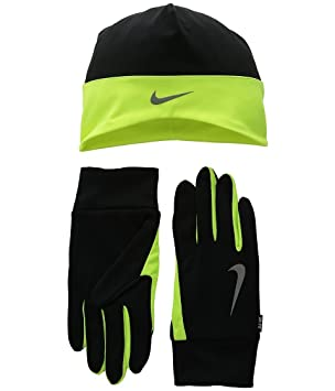Nike Men s Running Dri-Fit Beanie Glove Set Gloves  b36b2325311