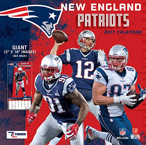 Turner Licensing Sport 2017 New England Patriots Team Wall Calendar  12 X12   17998011917