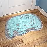 CLG-FLY Cute animal shape floor mat door mat door entrance porch living room kitchen bedroom bathroom carpet suction mat car mats ,1,40x60cm (small room)