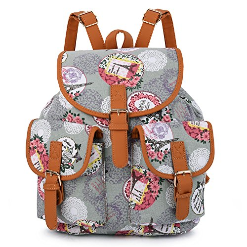 Women Casual Sports Backpack(Gray) - 1