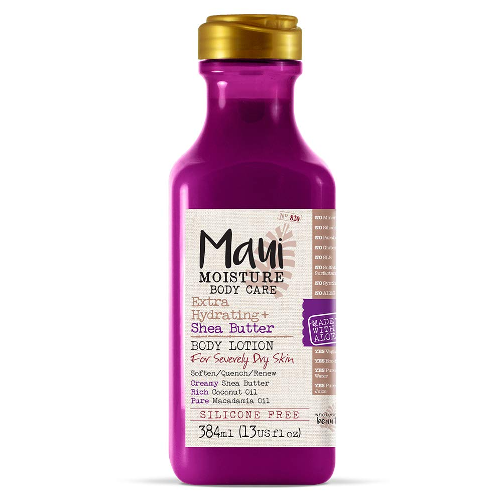 Maui Moisture Body Care Extra Hydrating Shea Butter Body Lotion, 19.5 Ounce