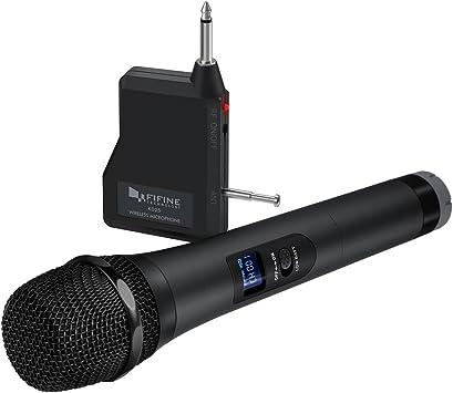Amazon.com: Micrófono inalámbrico FIFINE con micrófono ...