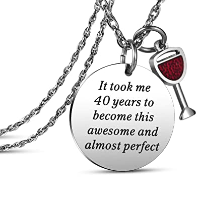 JanToDec Jewelry 1978 40th Birthday Gifts Women Necklace