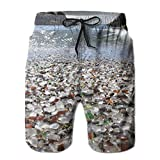 Sea Glass Beach Glass Men's Summer Casual Swimming Shorts Beach Board Shorts