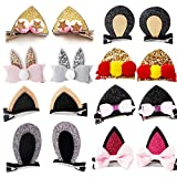 Cute Cat Ear Hair Clips Bears ear Barrettes Bow for Baby Girl Toddlers kids (hairpin 16pcs)