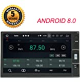Henhaoro カーナビ ストラーダ アンドロイド 8.0 カーステレオ 車 ナビ 2din マルチメディア プレーヤー 7インチ 8コア GPS Bluetooth Wifi Android Ram 4G Rom 32GB