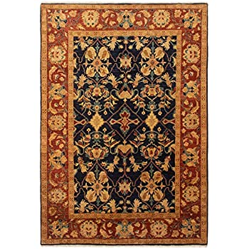 Amazon Com Ecarpet Gallery Bordered Blue Area Rug 6