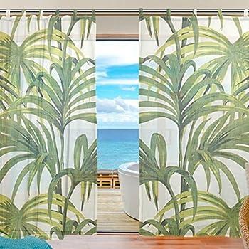Palm Leaf Print Curtains Theleaf Co