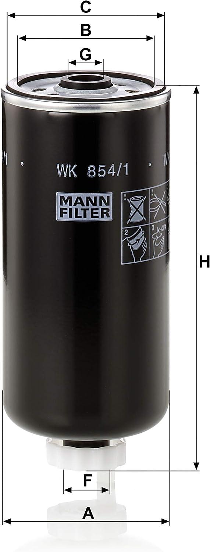 Original Mann Filter Kraftstofffilter Wk 854 1 Für Pkw Auto