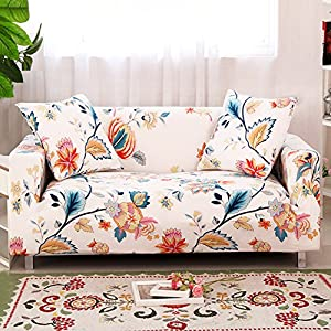 HOTNIU Stretch Couch Covers – Pattern Sofa Slipcovers – Fitted Loveseat Cover – Sofa Cover Seat Furniture Protector