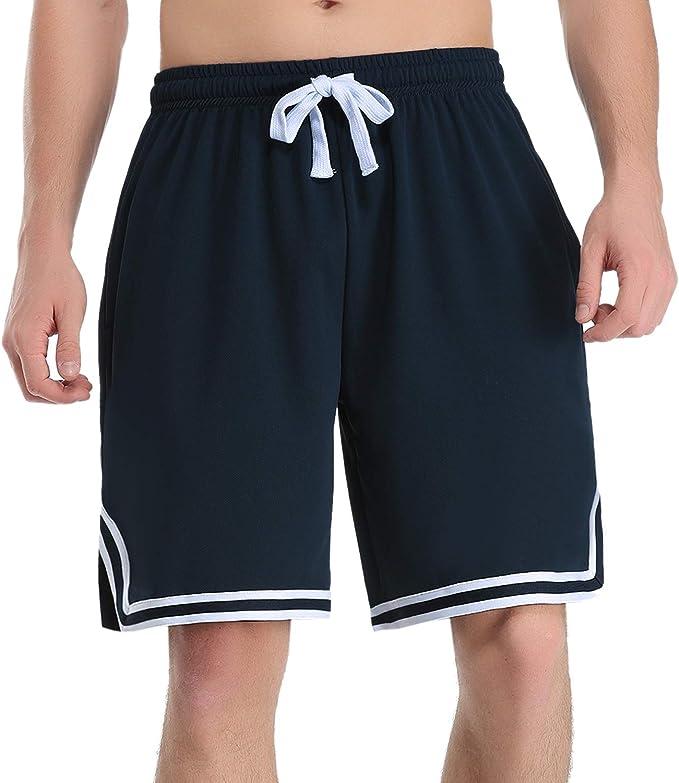 Hawiton Pantalones Cortos de Deporte para Hombre Pantalones ...