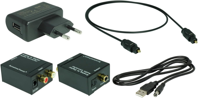 1,5m Toslink SunshineTronic Analog zu Digital Konverter mit USB-DC Kabel