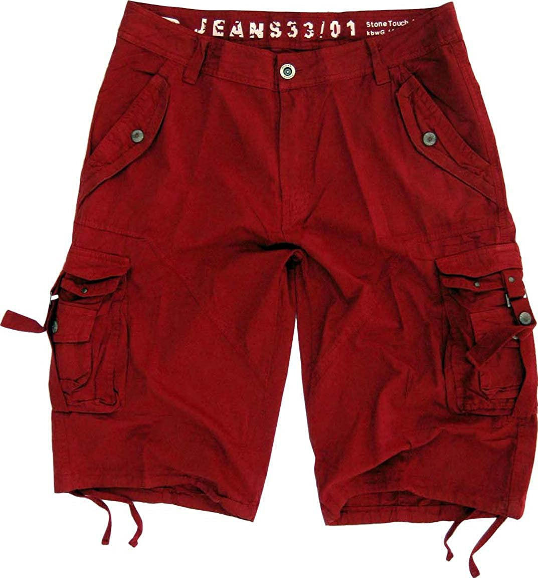 MENS sizes:30-54 MILITARY-STYLE CARGO POCKET SHORTS #A8STm