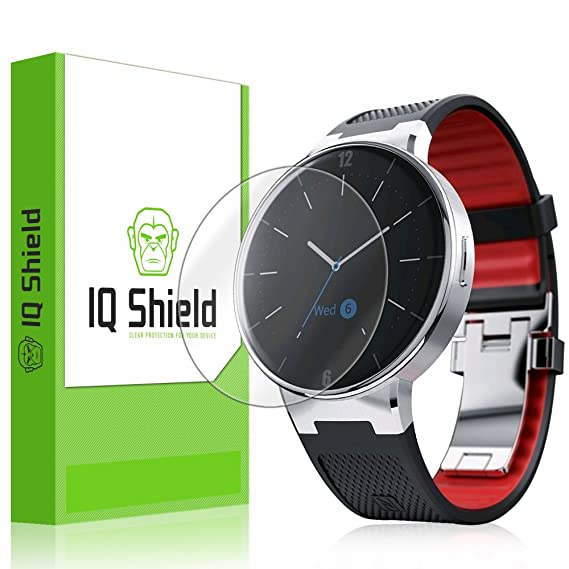 Alcatel OneTouch Watch Screen Protector, IQ Shield LiQuidSkin (6-Pack) Full Coverage Screen Protector for Alcatel OneTouch Watch HD Clear Anti-Bubble ...