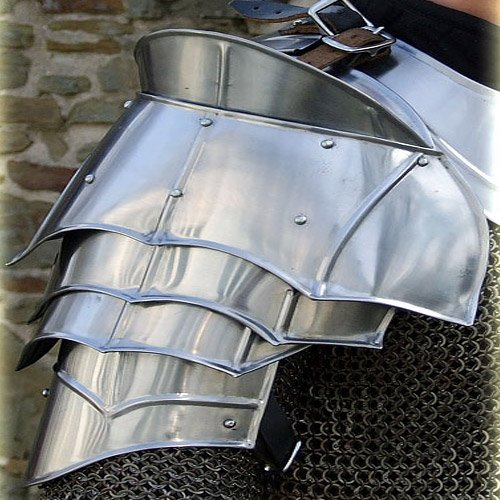 Steel Warrior Pauldron Medieval Shoulder Armor Set by Armory Replicas - Codpiece Costumes