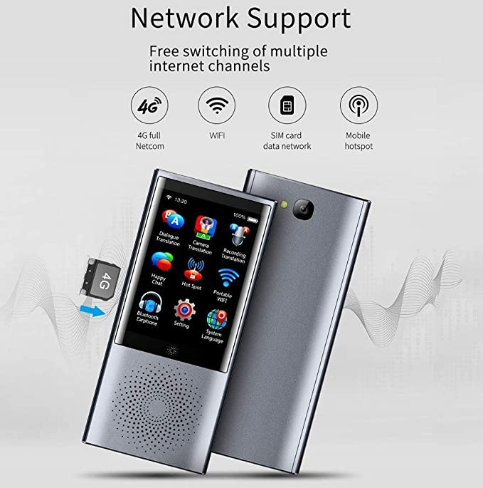 Two Way Translation In 79 Languages Smart WIFI 2.4 Inch Touch Screen Translator for Learning Shopping Business Travel Ceepko Portable Immediate Voice Language Translator Device Offline Translation