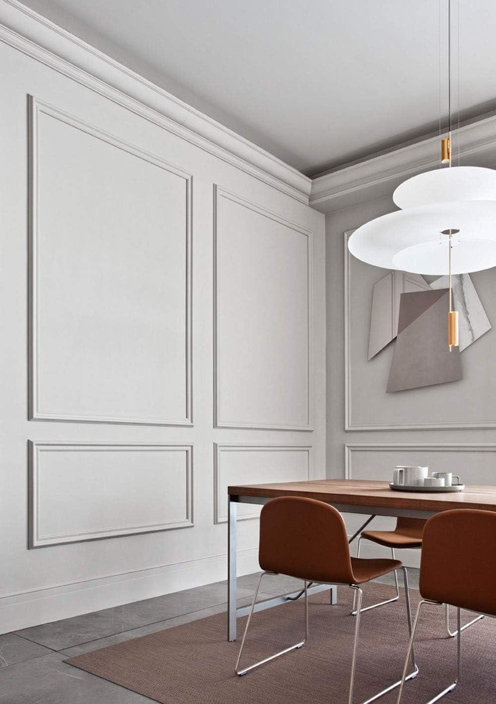 Height Orac Decor High Density Polyurethane Panel//Chair Rail//Wainscot Moulding Primed White 2-3//8 Length 78