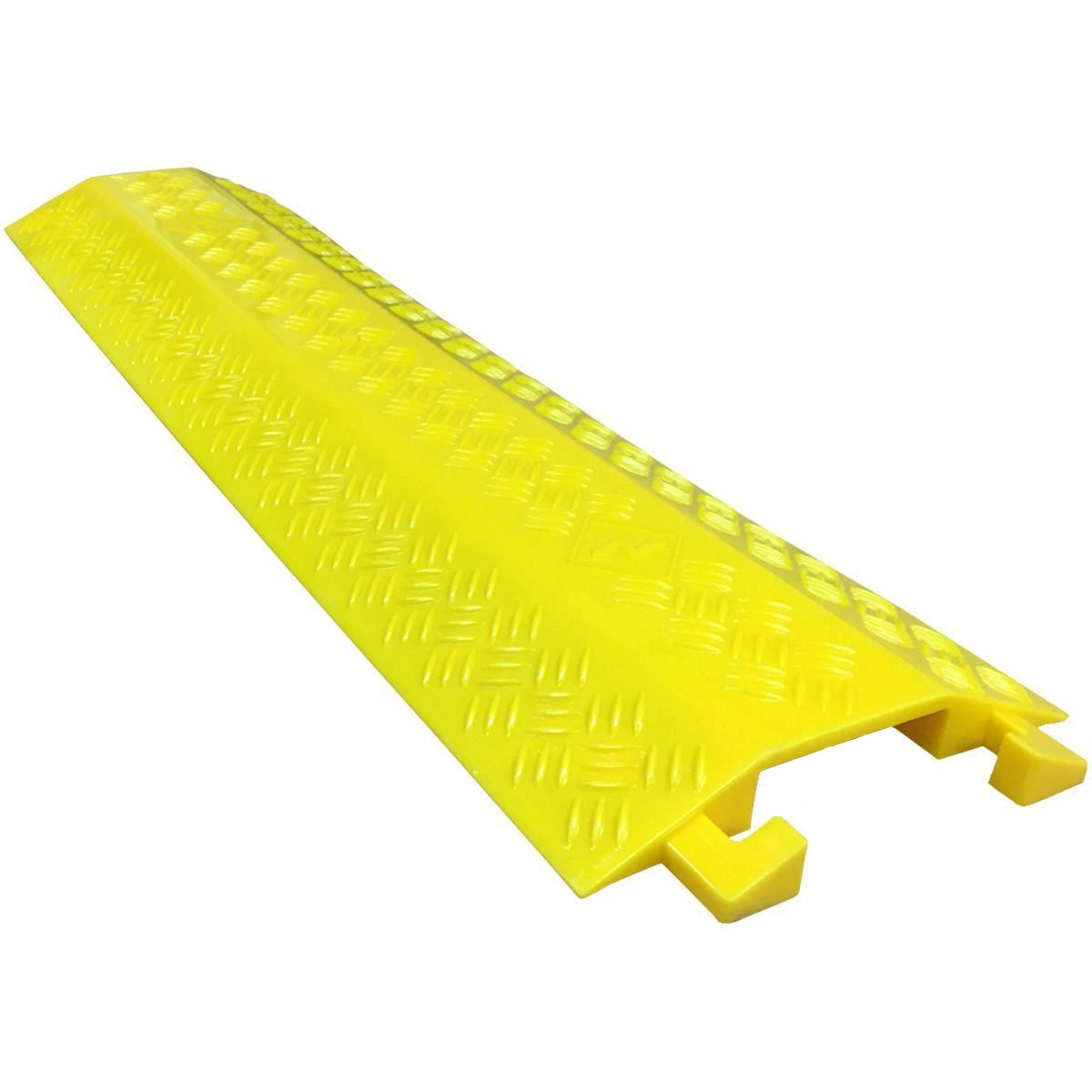 EZ Runner Slim PVC Drop Over Cable Ramp - Single Channel - Yellow (Pack of 3)