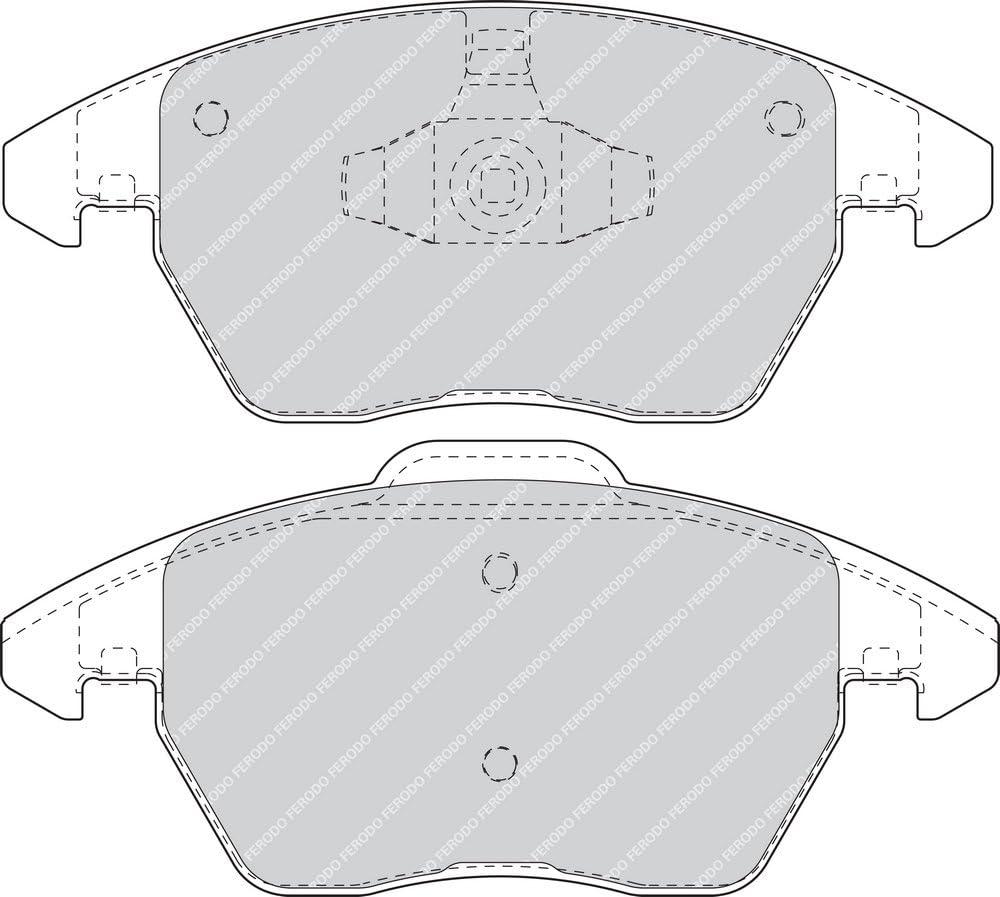 set of 4 disc brake Ferodo FDB1755 Brake Pad Set