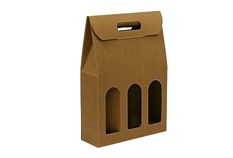 1 Caja de 30 Bolsas de cartón para Botellas (Avana, 27x9x38 ...