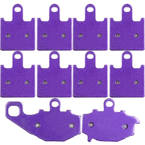 - OCPTY Kevlar Carbon Brake Pads Replacement fit for Kawasaki Ninja ZX6R ZX600P 2007 2008 ZX600R 2009-2012 Front and Rear