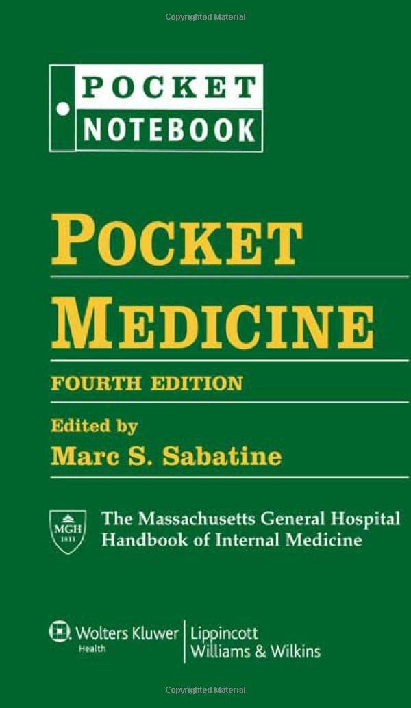 Pocket Medicine: The Massachusetts General Hospital Handbook of Internal Medicine, 4th Edition (Pocket Notebook)