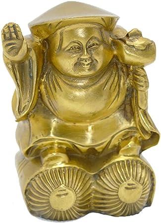 BRASS STATUE Ottone statua giapponese Mammon statua Daikokuten Dio della ricchezza statua Dio della fortuna Fortuna statua in ottone tradizionale Art Gift