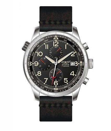 Aviator F-Series en Todo el Mundo Tiempo cronógrafo Reloj: Amazon.es: Relojes