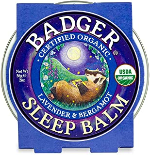 product image for Badger - Sleep Balm, Lavender & Bergamot, Natural Sleep Balm, Scented Relaxing Balm for Children and Adults, Calming Night Balm, Organic Sleep Balm, 2 oz