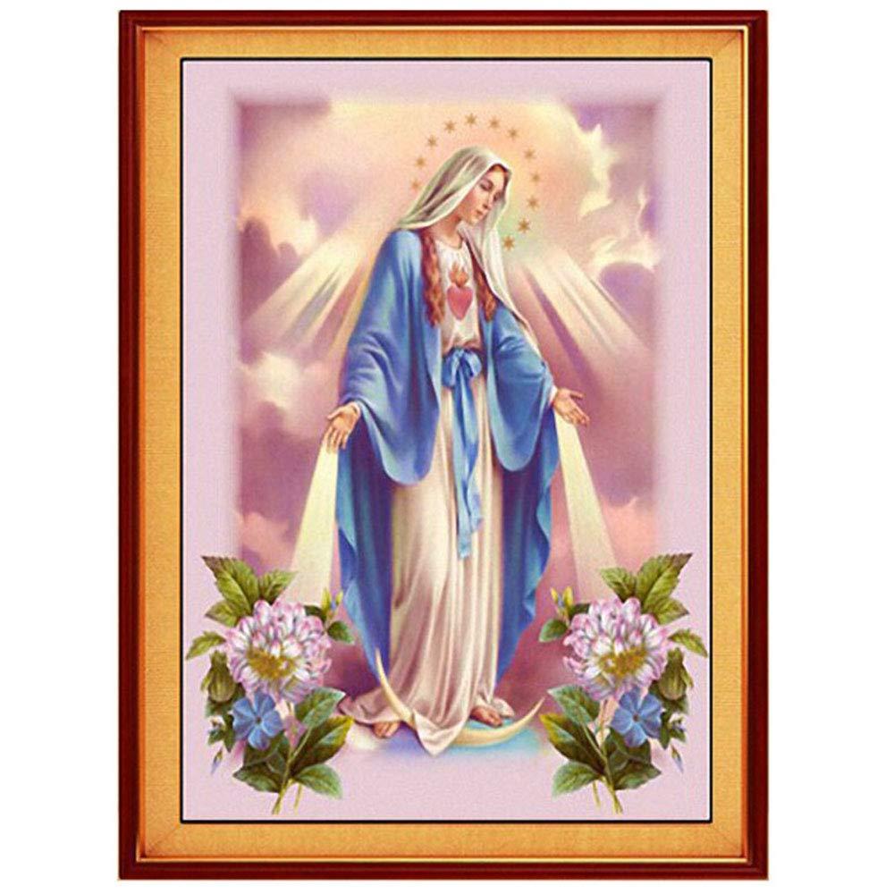 decorazione da parete per camera e ufficio Abwan motivo: Ges/ù cristiano con strass Vergine Maria Kit per pittura a mosaico 5D