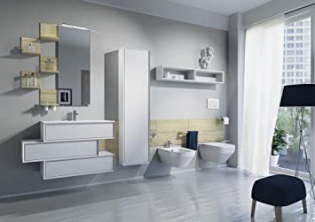 dafnedesign. COM – Zusammensetzung Badezimmer Komplett, Finish Weiß ...