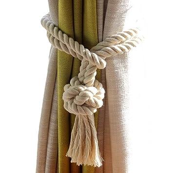 Accessoires pour rideaux Rideau de coton Rideau-2 pièces de Rideau ...