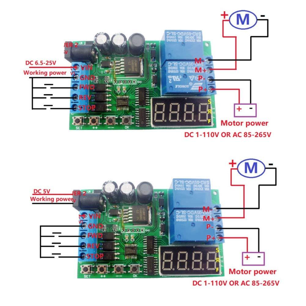 5V Reverse Controller Timing Delay Time Cycles Relay Motor 24V Motor Forward