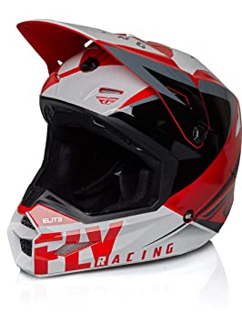 Fly Racing Casco Mx 2019 Elite Vigilant Rojo-Negro (L, Rojo)