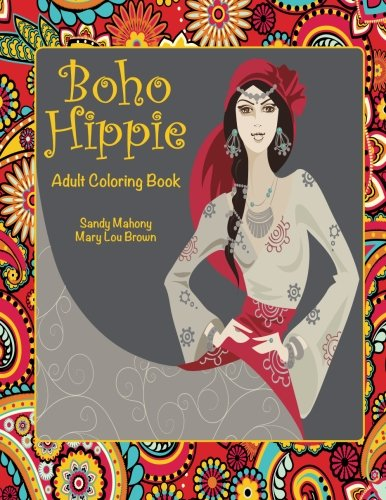 Boho Hippie Adult Coloring Book