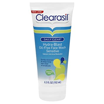 clearasil hydra blast face wash sensitive review