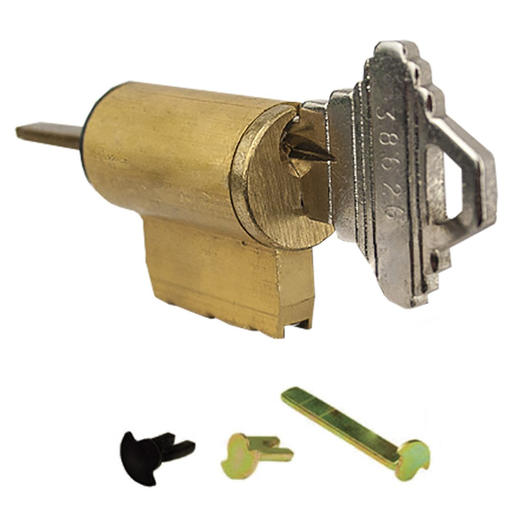 Global Door Controls Universal Cylinder 5-Pin Yale Keyed Different with 3 Tail Pieces