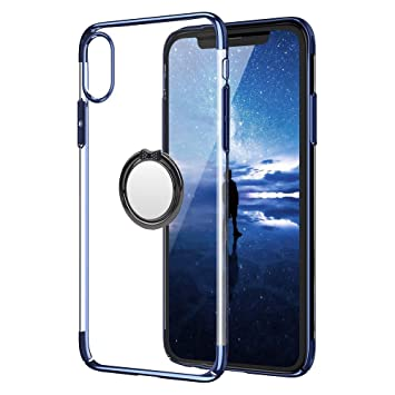 coque iphone x bague transparente