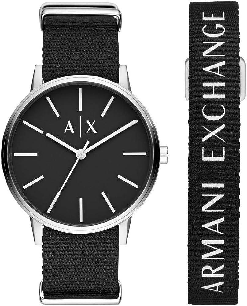 Armani Exchange Reloj para de Cuarzo con Correa en Nailon AX7111