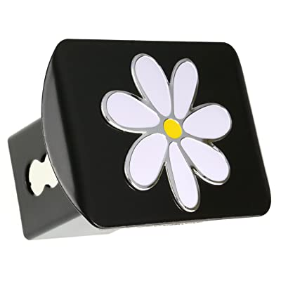 "LFPartS Plumeria Flower 3D Emblem Metal Trailer Hitch Cover Fits 2"" Receivers: Automotive"