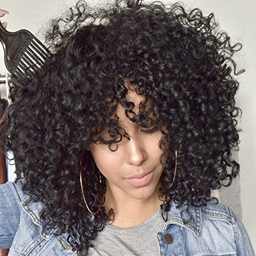 AISI QUEENS Black Short Kinky Curly Wig