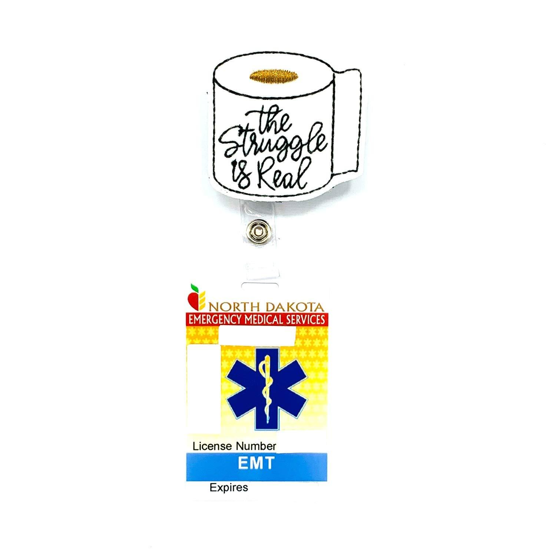 Toilet Paper Retractable Badge Reel